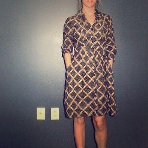 Anthropologie Maeve Button Down Corduroy Dress